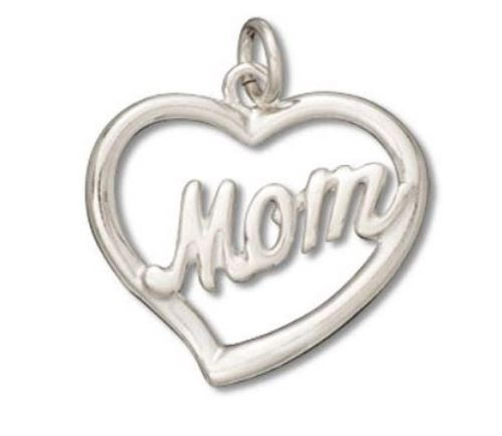 "Mom Open ""Heart"" Charm"