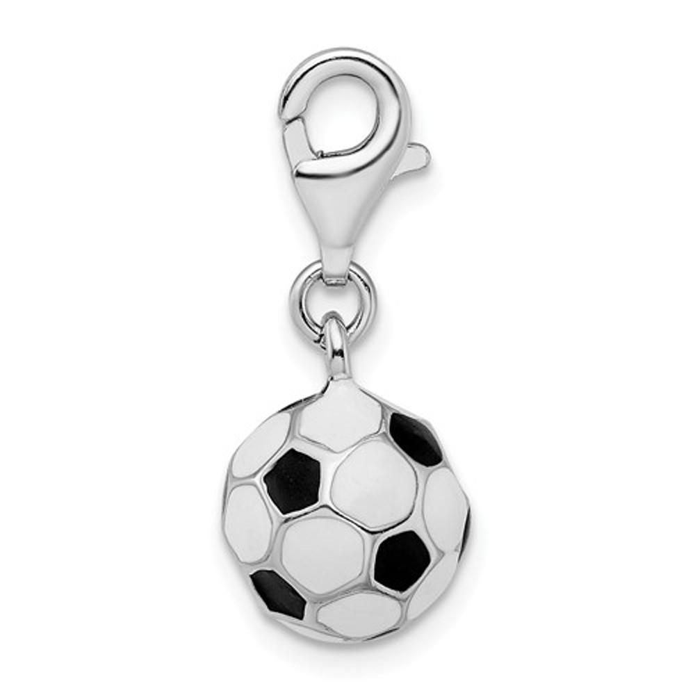 """Soccer Ball """"Enamel"""" Charm"""