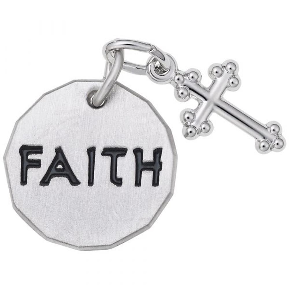 "Faith Tag With Cross ""Rembrandt"" Charm"