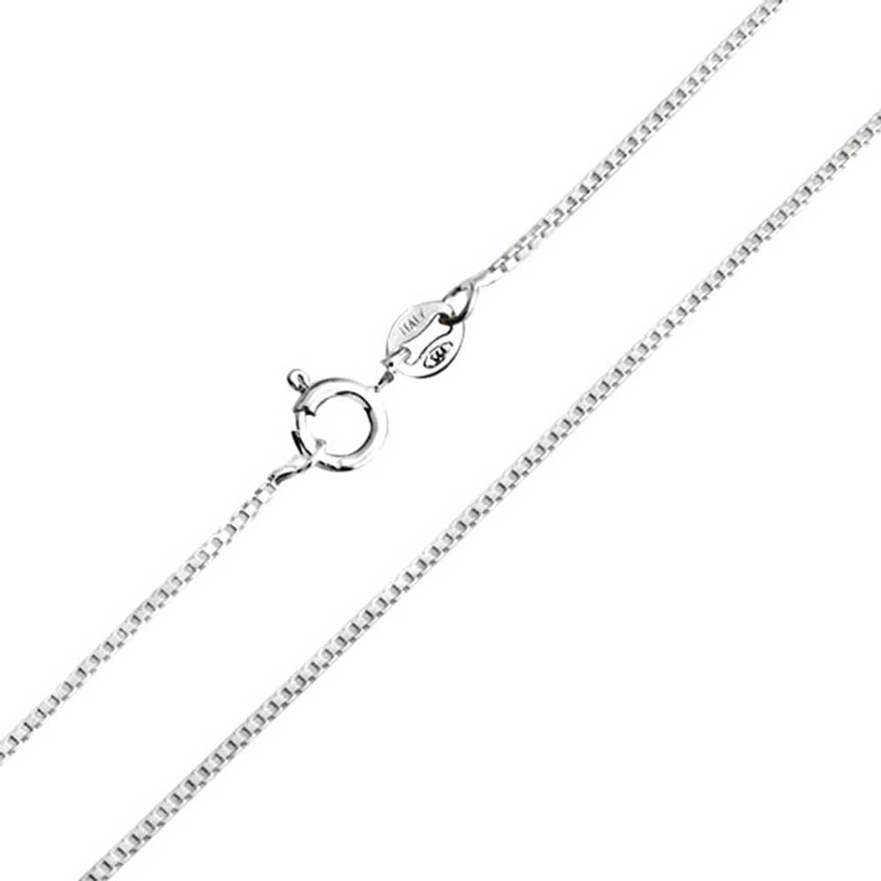 0fbcd0dbd10 Sterling Silver 1.1mm Box Chain - Dixie's Online