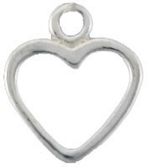 """""""Small Heart Outline"""" Charm"""