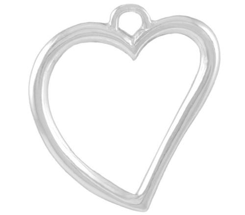 """Heart Outline"" Charm"