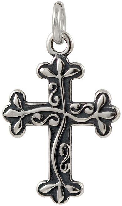 "Cross ""Vine"" Charm"