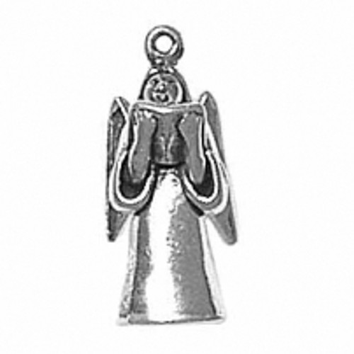 """""""Bell Angel with Book"""" Charm"""