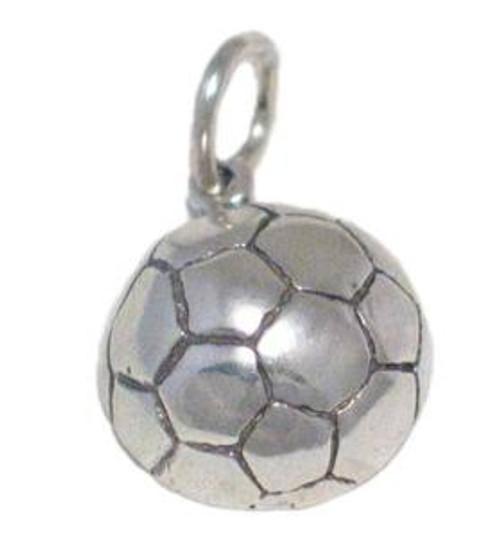 "Soccer Ball ""Half"" Charm"