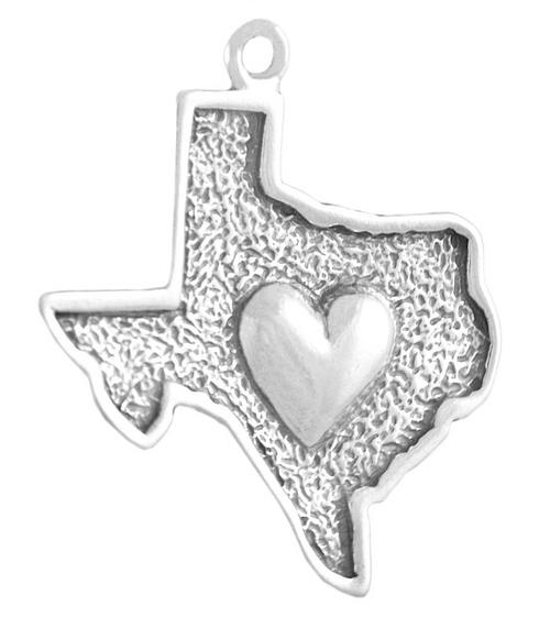 Texas w/ Heart Charm