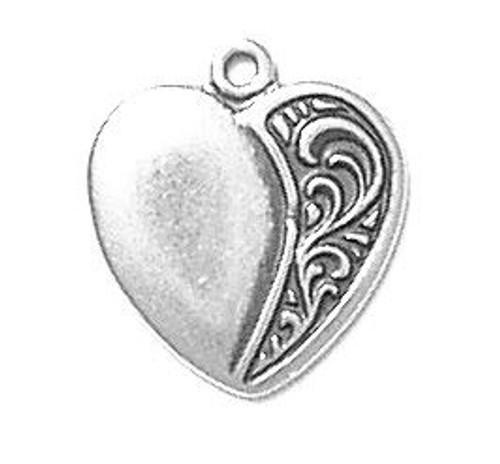 "Heart ""Scroll Rt."" Charm"