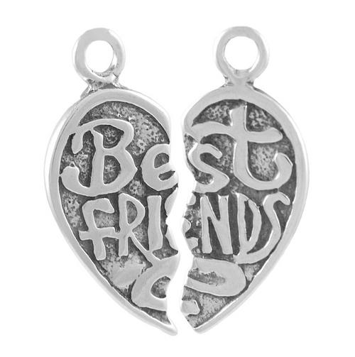 "Heart ""Best Friends"" Lg. Charm"