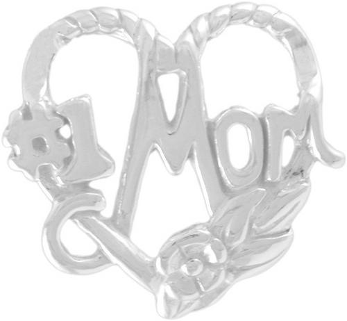 """#1 Heart Mom"" Charm"