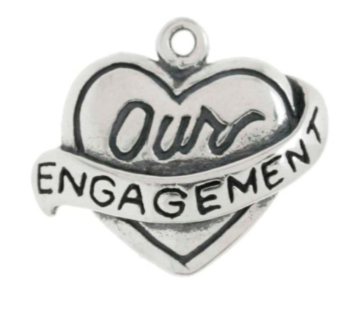 """""""Our Engagement"""" Heart Charm"""