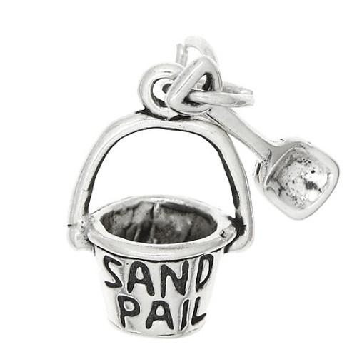 """Sand Pail """"w/ Shovel"""" Charm"""