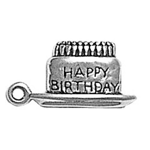 "Birthday Cake ""Flat"" Charm"