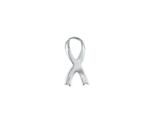 """Ribbon """"Silver"""" Charm"""