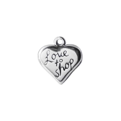 "Heart ""Love to Shop"" Charm"