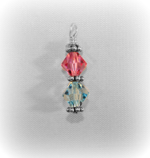 "Birthstone ""6mm/6mm Drop"" Charm"