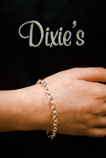 """Charm Bracelet """"Medium Tiffany"""" Style"""
