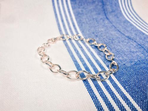 """Charm Bracelet """"Large Tiffany"""" Style"""