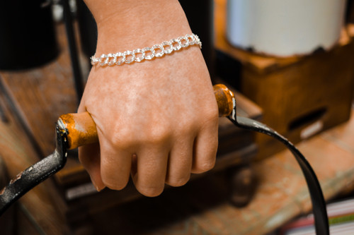 Medium Diamond Charm Bracelet