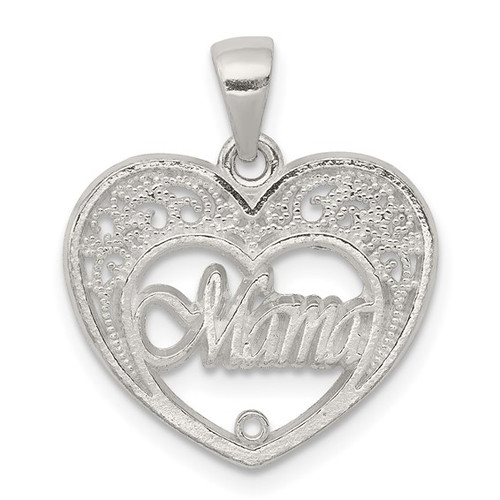 Mama in Heart Charm