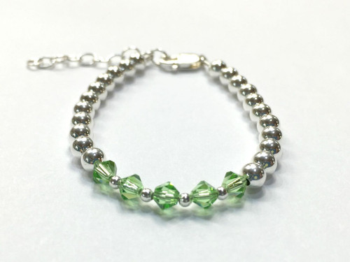 Sterling Silver Beaded Baby Bracelet