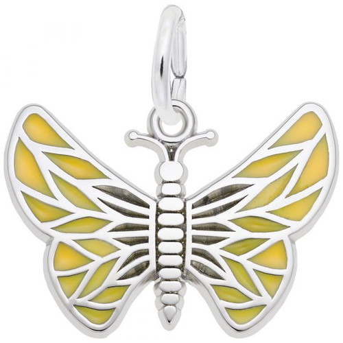 """Enameled Butterfly """"Rembrandt"""" Charm"""