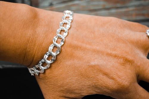 Large Diamond Charm Bracelet
