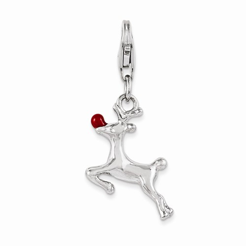 """Red Nosed Reindeer"" Charm"