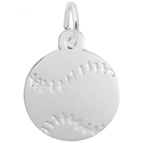 "Flat Baseball ""Rembrandt"" Charm"