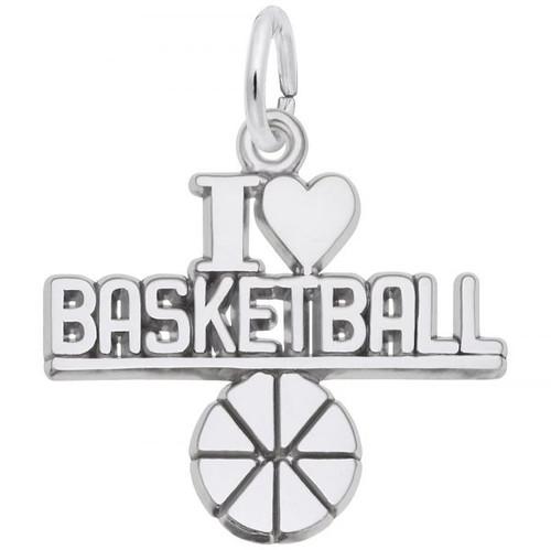 "I Love Basketball ""Rembrandt"" Charm"