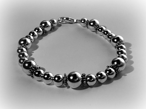 Fancy Sterling Silver Bracelet With Rondels