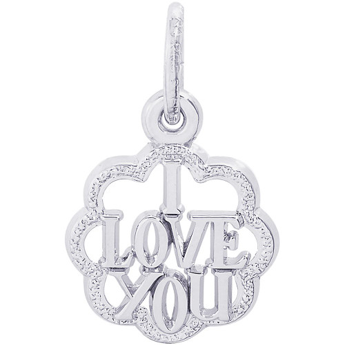 "I Love You W/Scalloped Border ""Rembrandt"" Charm"