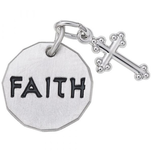 "Faith Tag With Cross ""Rembrandt"" Charm"