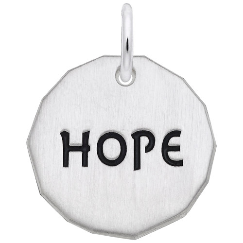 """Charm Tag """"Rembrandt"""" Hope"""