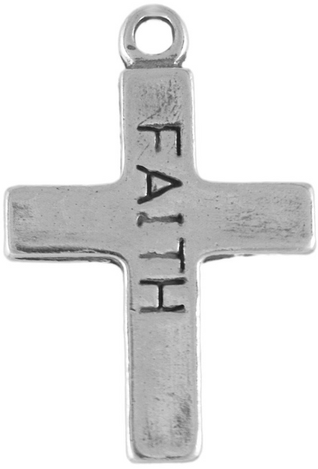"""Faith Cross"" Charm"