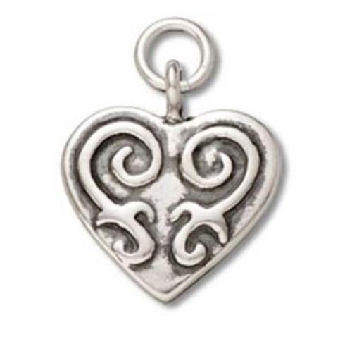 """Scroll Heart"" Charm"