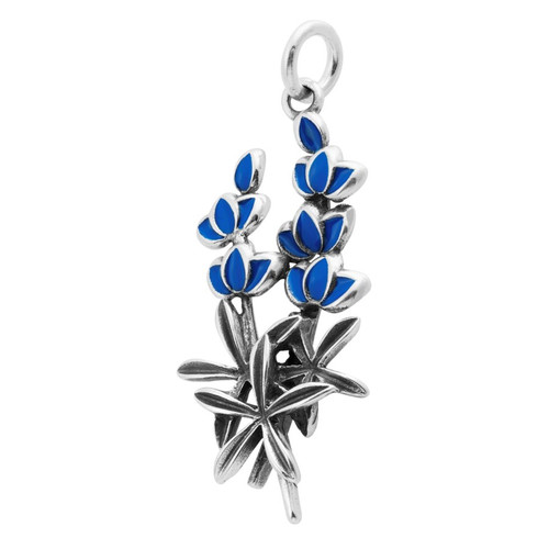 """Blue Bonnet"" Charm"