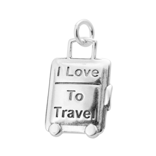 """""""Love to Travel"""" Suitcase Charm"""