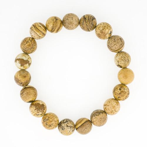 Picture Jasper Semi Precious Stone Bracelet