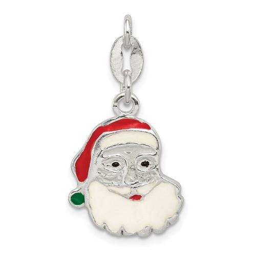 "Enamel ""Santa Head"" Charm"