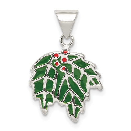 """Enamel Holly"" Charm"