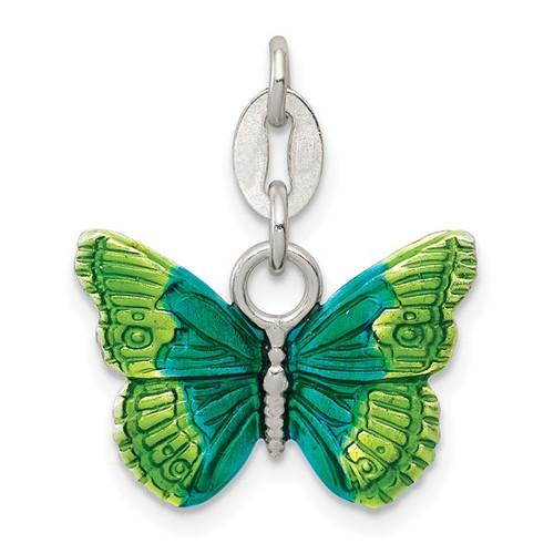 Enamel Green Butterfly