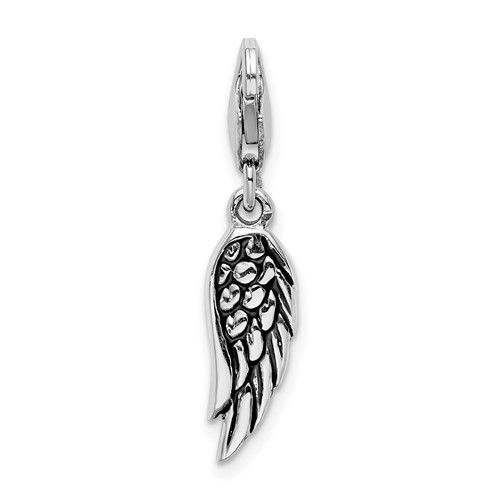 Detailed Angel Wing Charm