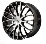 "Brexten BX-20 20"" Alloy Wheels Black Polish Face"