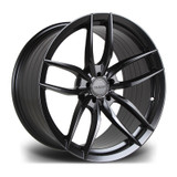 "19"" Riviera RV195 Matte Black Staggered Fitment"
