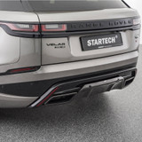Startech Rear Bumper incl Carbon Diffusor Exhaust tips in Silver