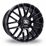 "19"" Dare Targa TG2 Black Polished Detail Alloy Wheels"
