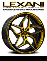 "22"" Lexani Spyder Alloy Wheels Special Edition GOLD"