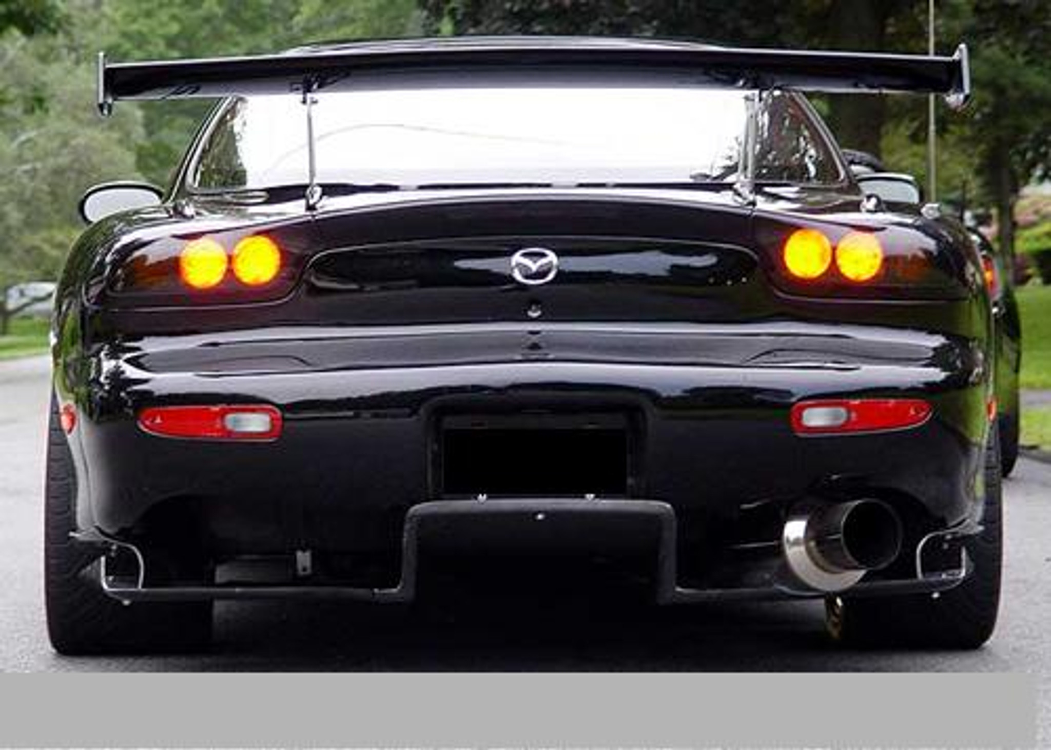 Mazda Rx7 Fd >> Mazda Rx7 Fd3s Black Grp Rear Diffuser Body Kit