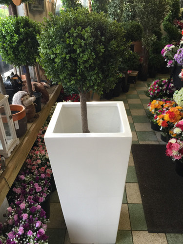 Tall White Planter