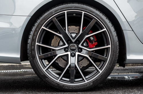 """18"""" Alloy Wheels Audi RS6 Style Black Polished Face"""